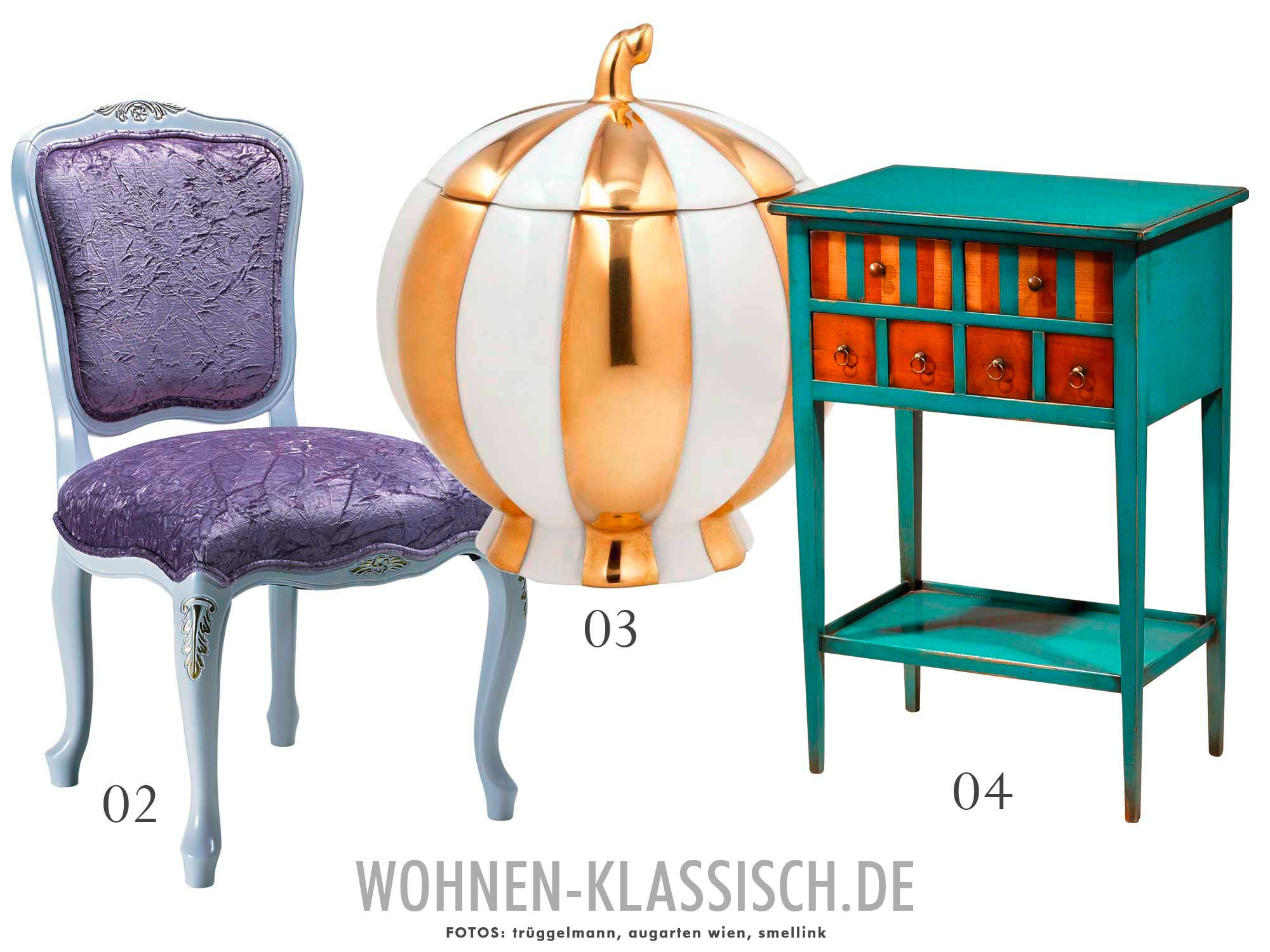 Top Ten: Bunte klassische Möbel und Accessoires | KLASSISCH WOHNEN