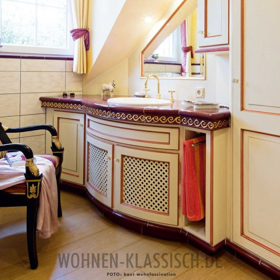 Freiform Badezimmer. By. KLASSISCH WOHNEN