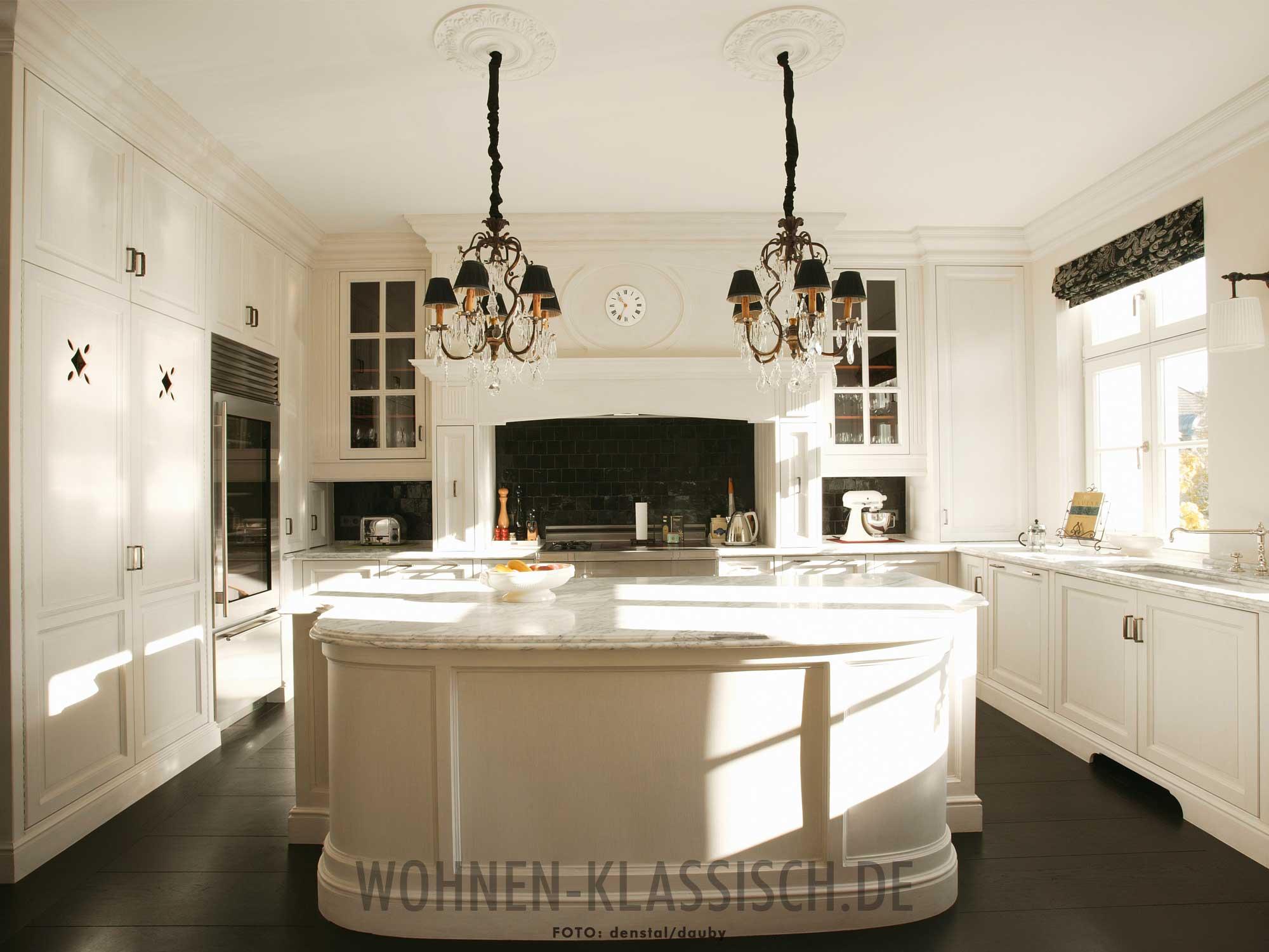 elegante art d co k che klassisch wohnen. Black Bedroom Furniture Sets. Home Design Ideas