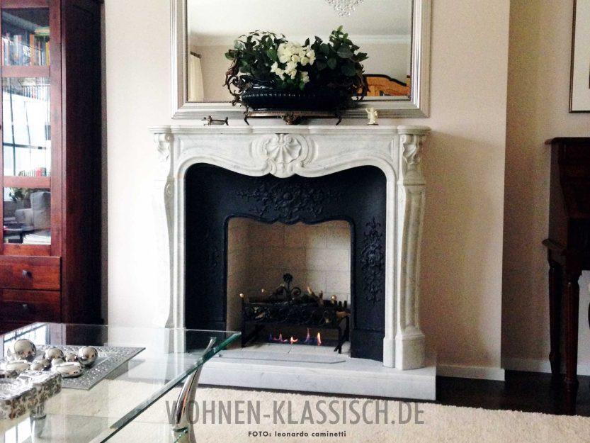 klassischer kamin mit bioethanolfeuer klassisch wohnen. Black Bedroom Furniture Sets. Home Design Ideas