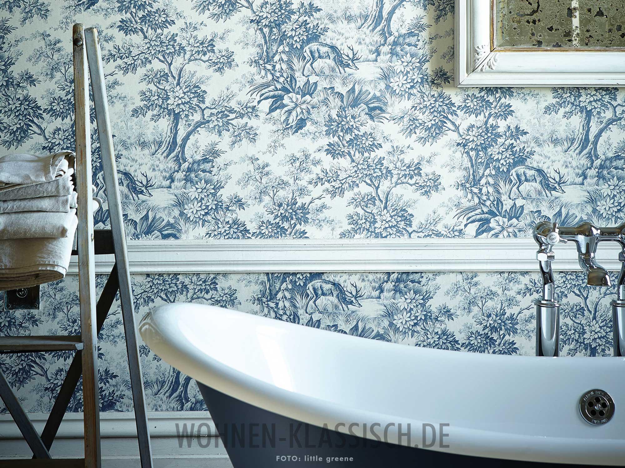 Natur im blick tapete im badezimmer klassisch wohnen - Tapete im badezimmer ...