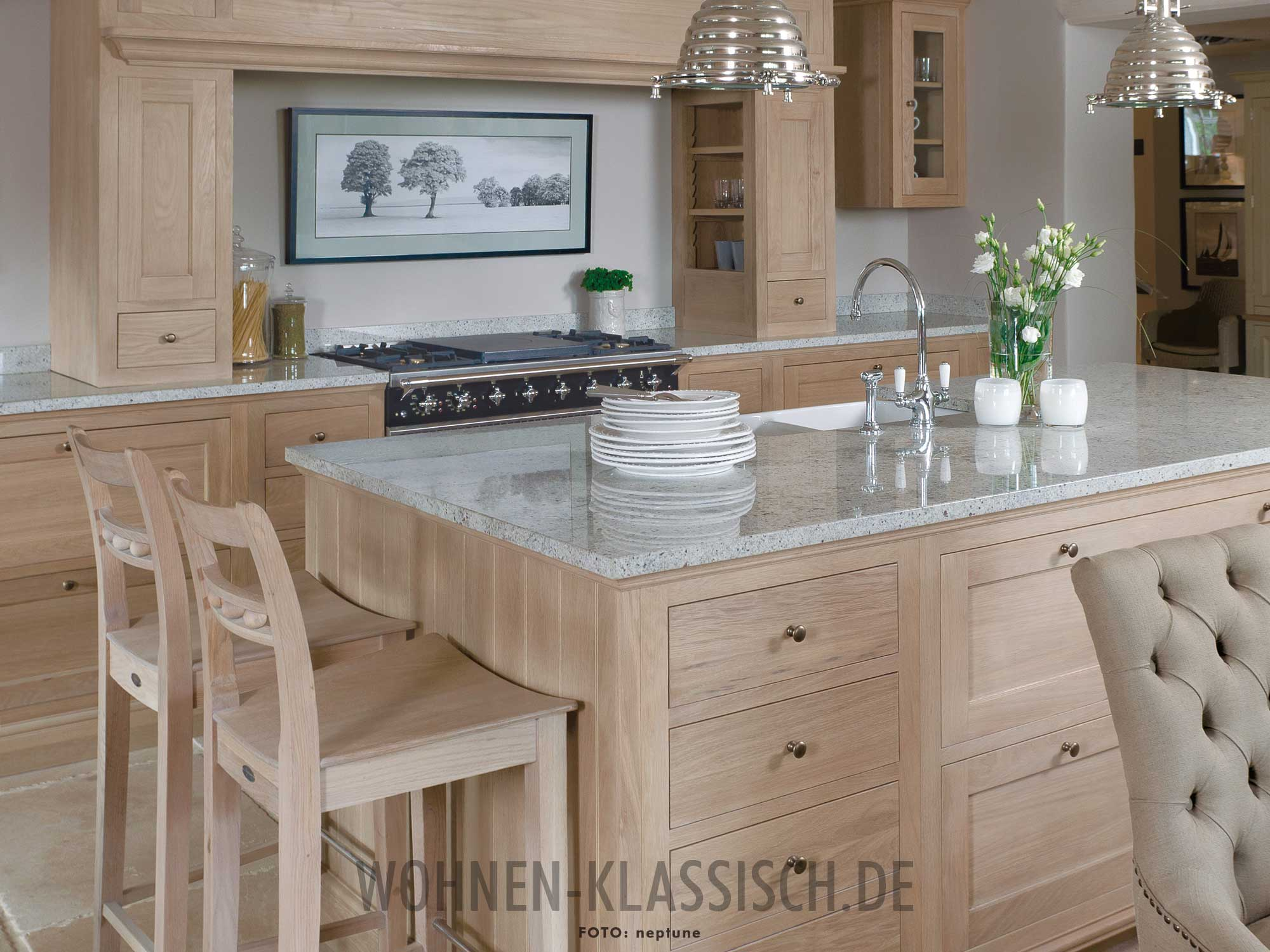 k che im naturlook klassisch wohnen. Black Bedroom Furniture Sets. Home Design Ideas