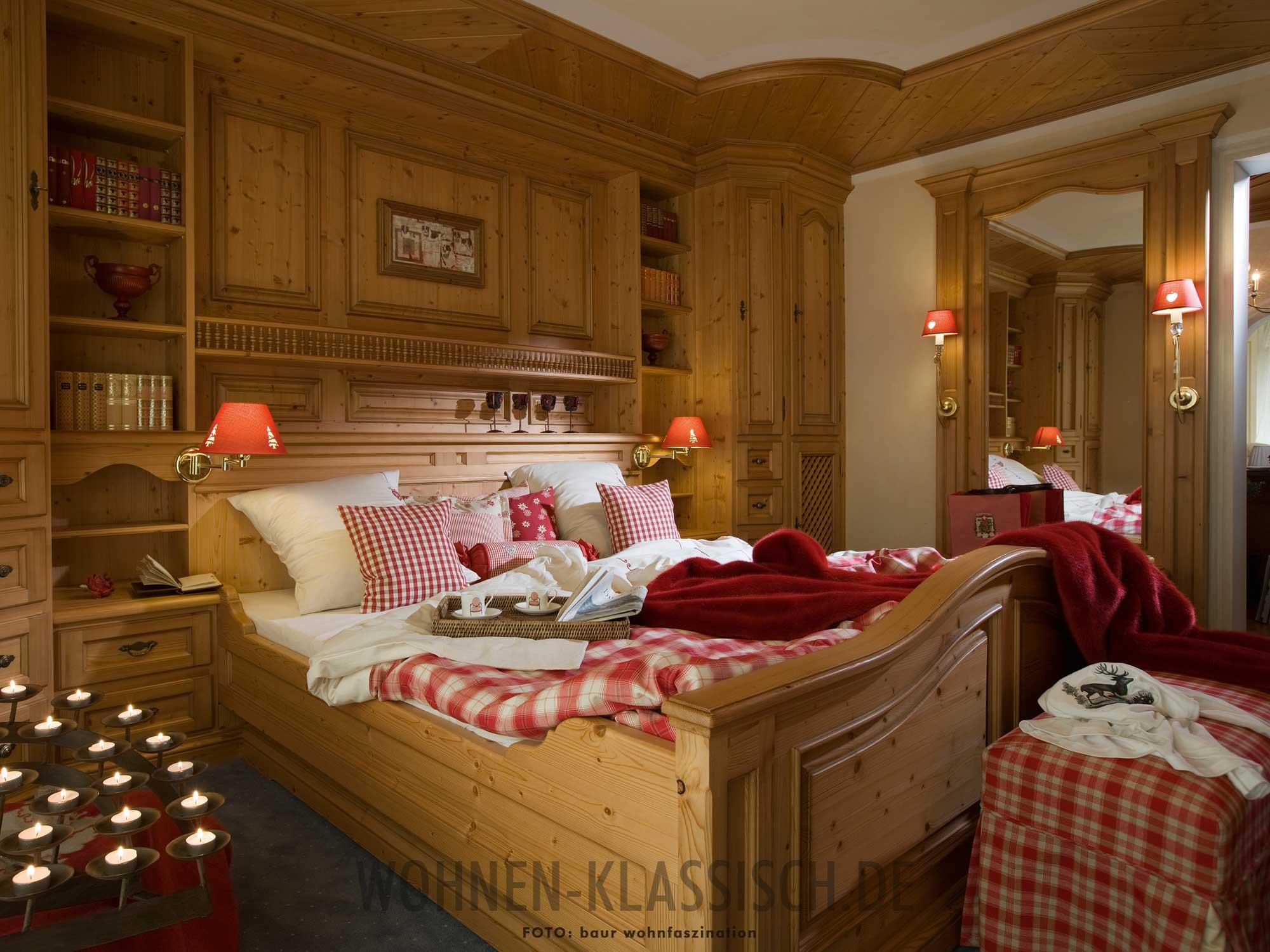 alpenl ndisches traumschlafzimmer klassisch wohnen. Black Bedroom Furniture Sets. Home Design Ideas